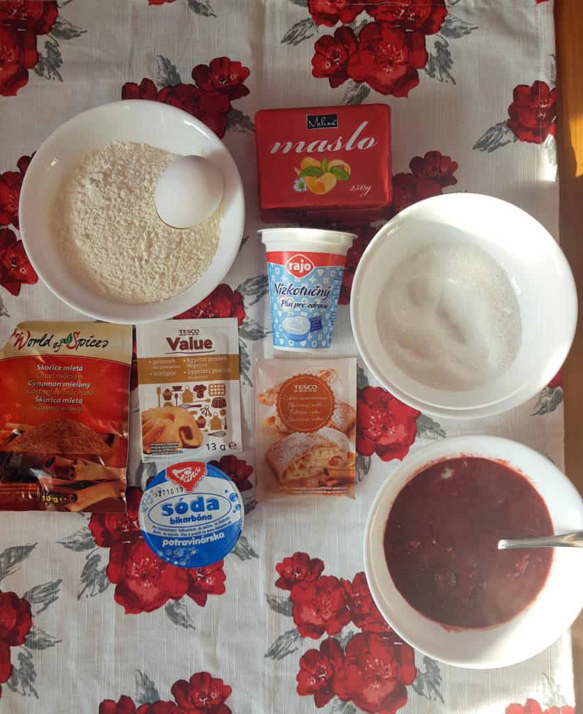 suroviny na muffiny