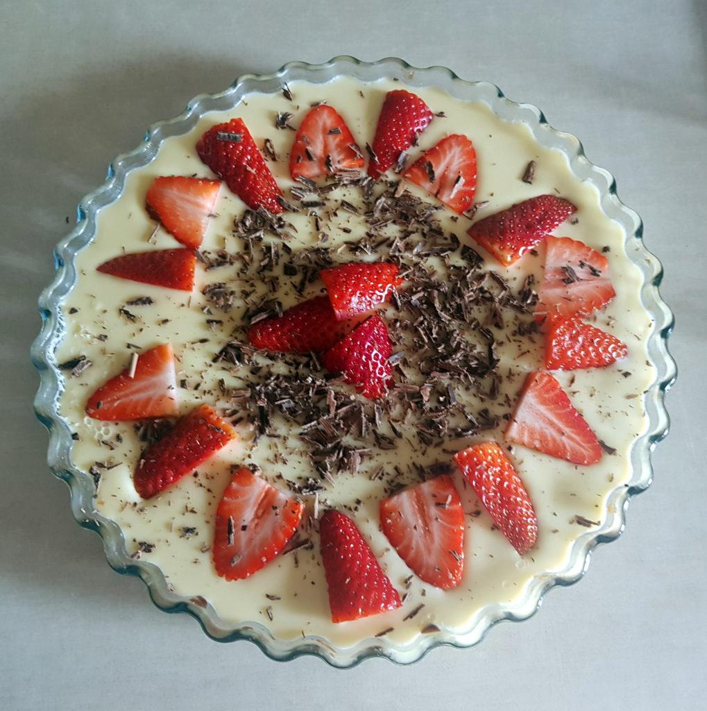 jahodová kinder torta