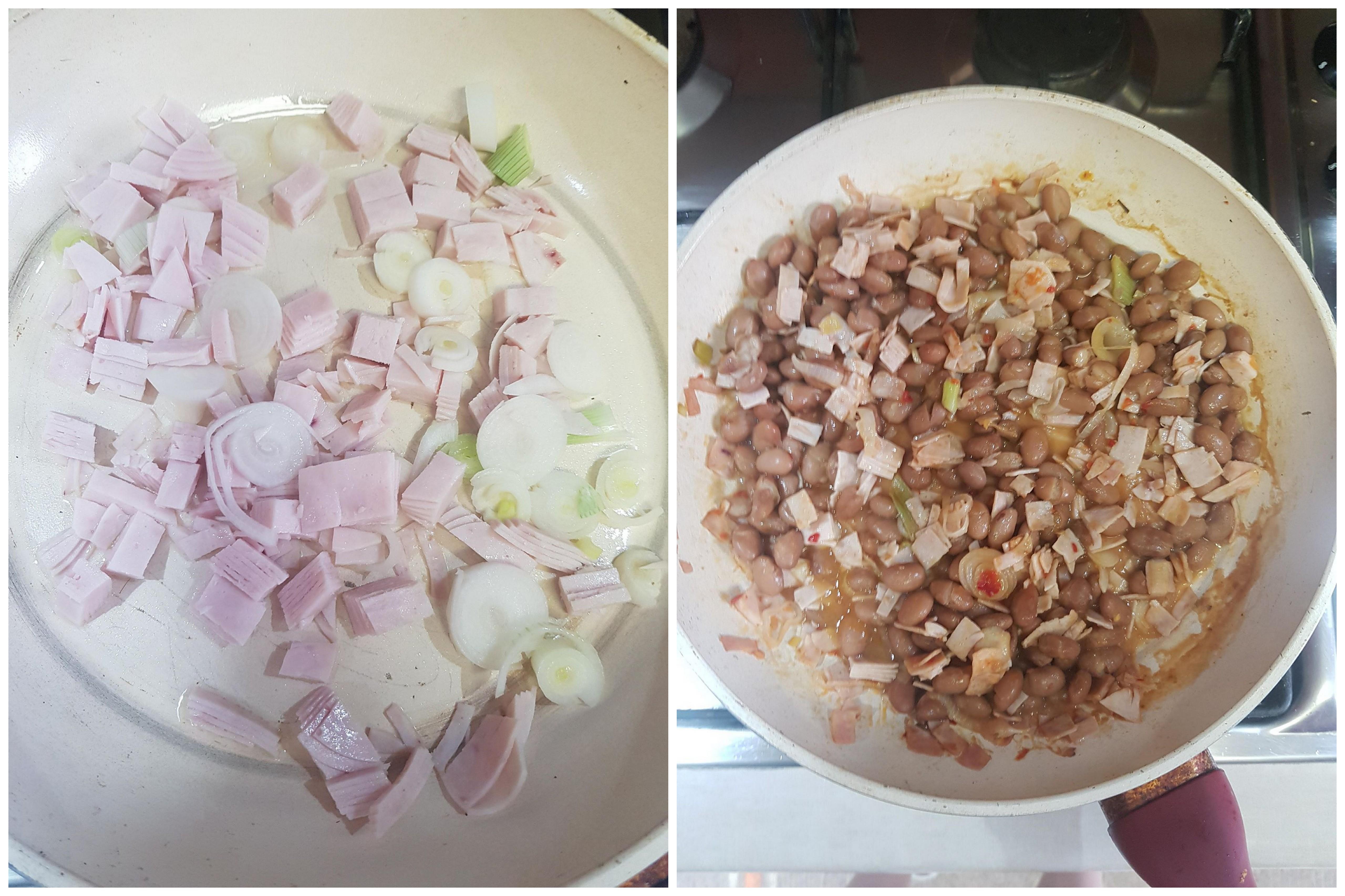 Cuketové kolieska s fazuľovým šalátom