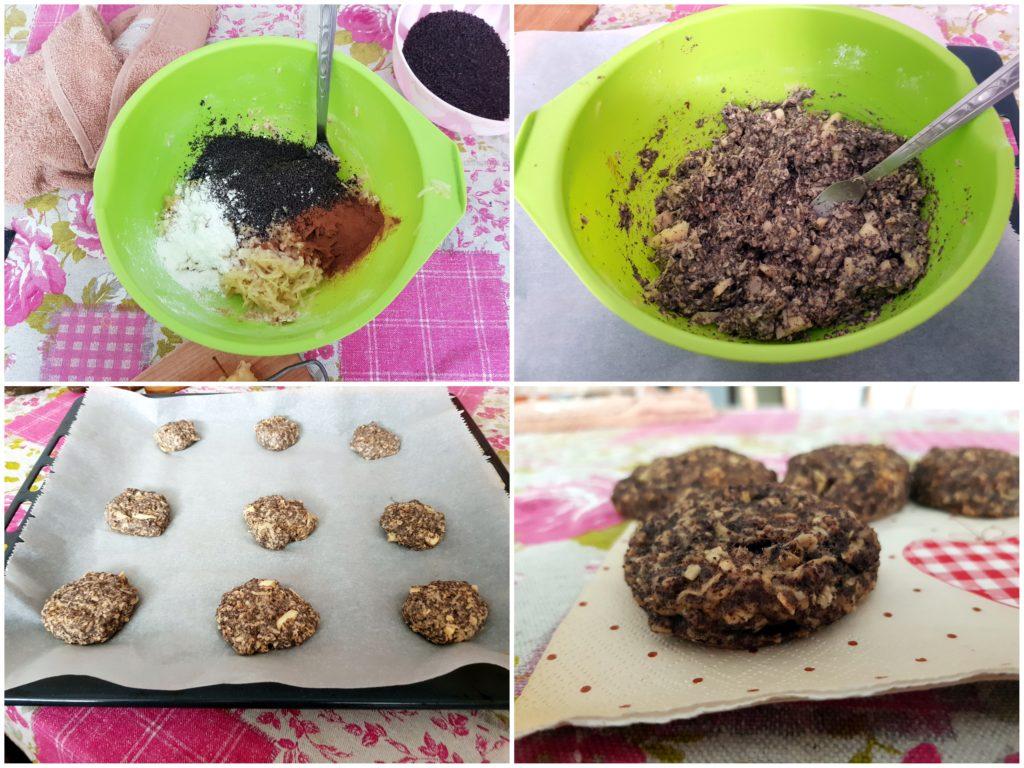 postup pri pečení makových cookies